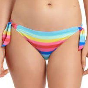 California Waves Multi Color Shimmer Side Tie Btm